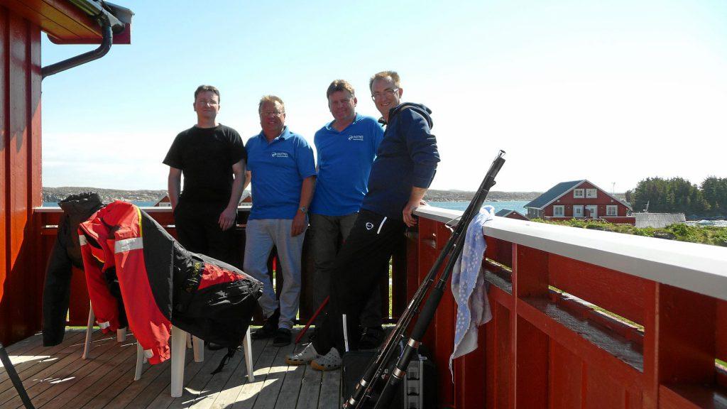Gemeinsames Foto der Bootstruppe