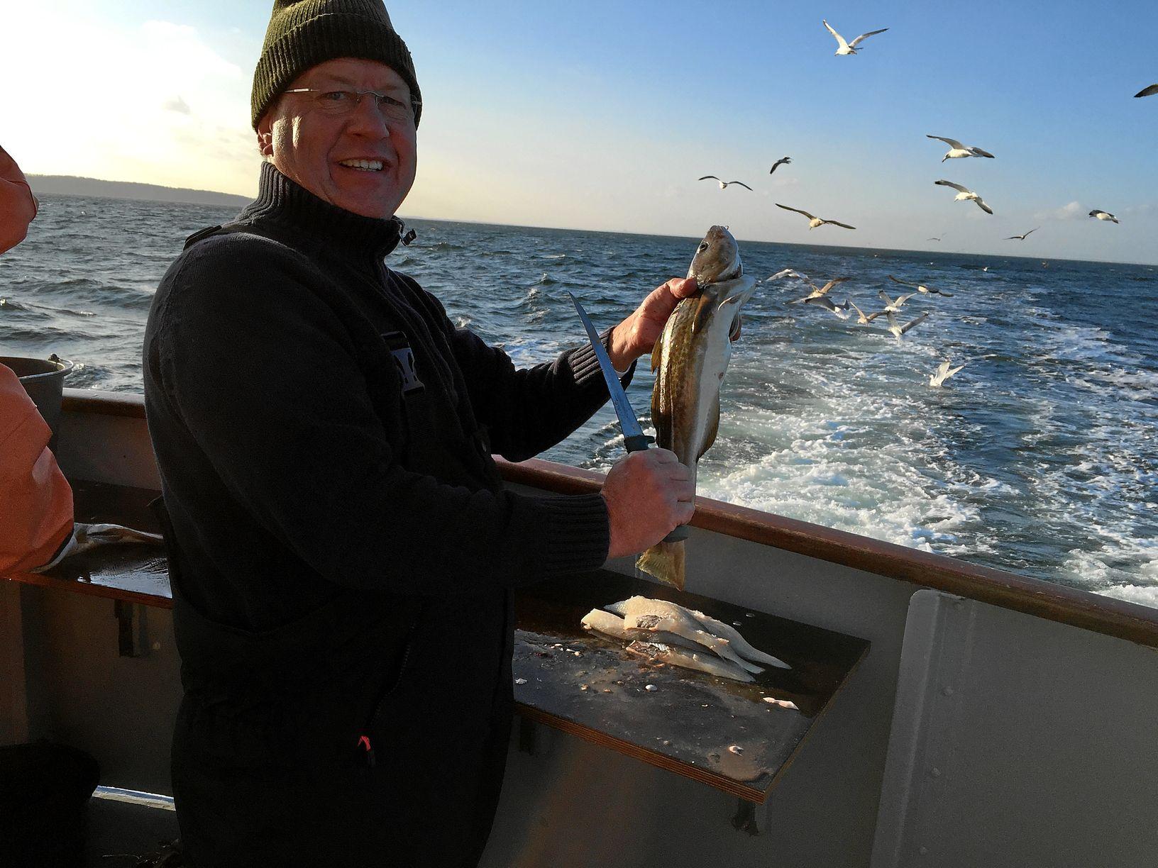 Fischverarbeitung auf der Peter II