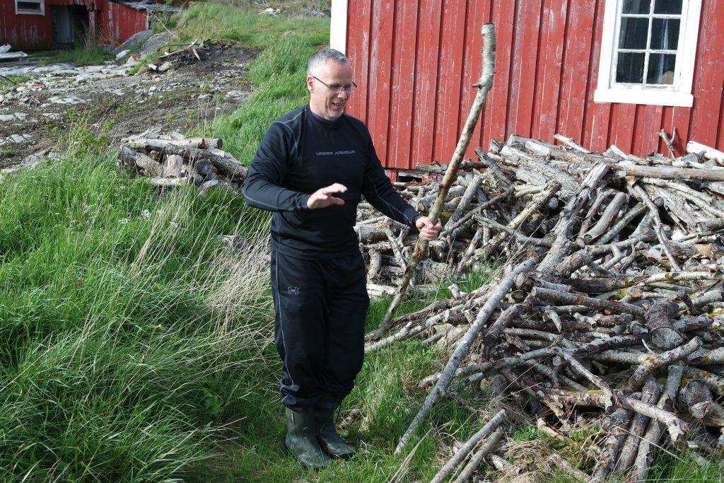 Holzsammler auf Hitra