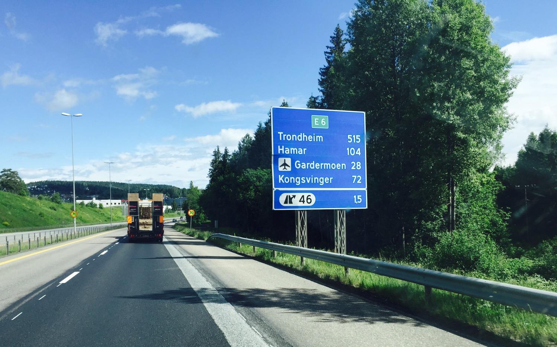 Richtung Trondheim