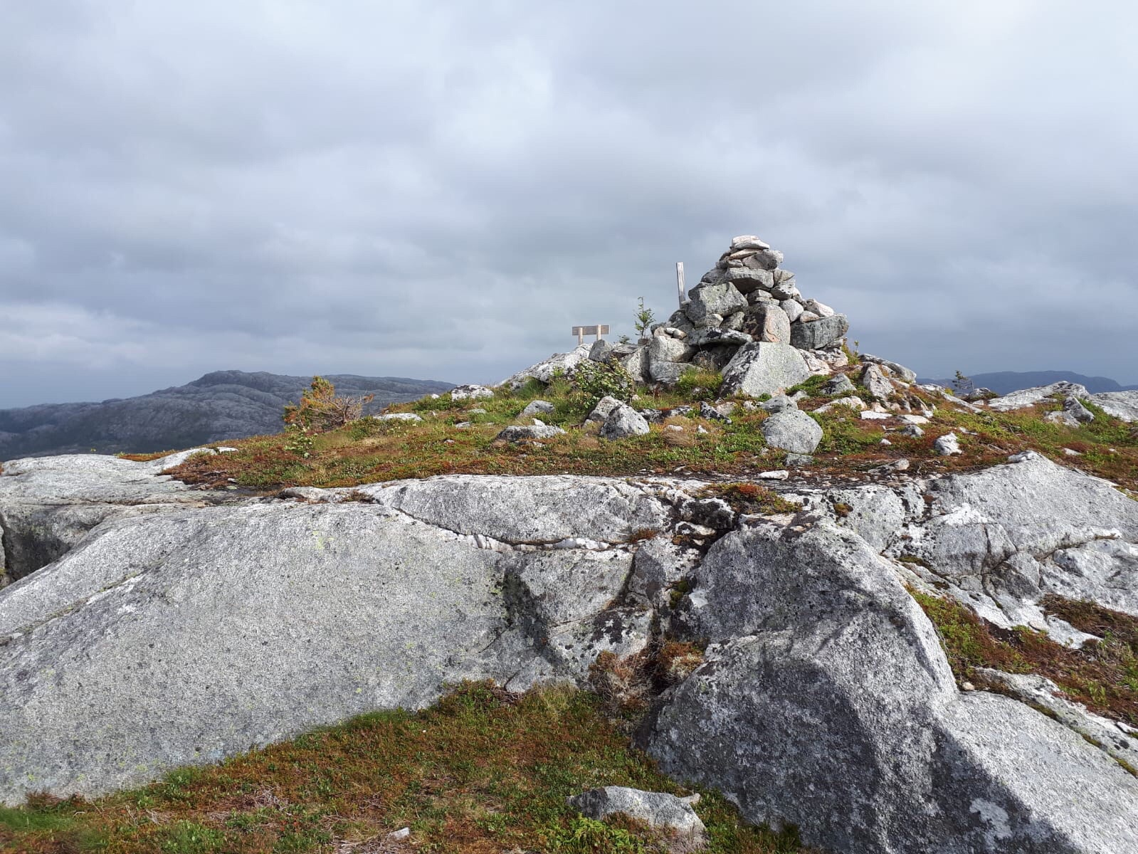 Wind auch auf dem Gipfel
